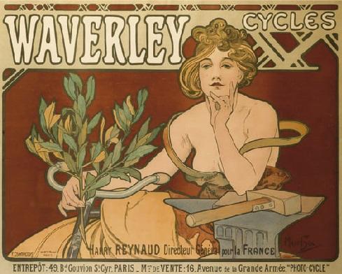Alfons Mucha Waverley cycles_Mucha Alfons krasa reklamy