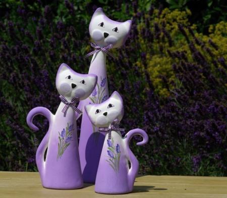 kočky keramické
