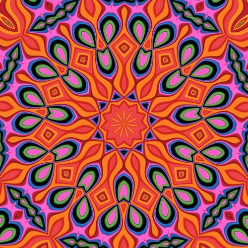 Mandala, typická kresba na výrobcích Desigual